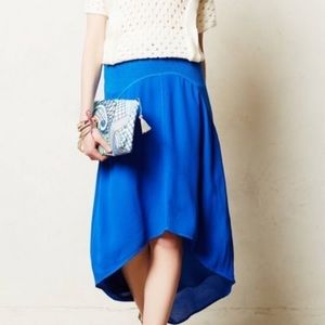 Anthropologie Left Of Center HiLo Blue Skirt